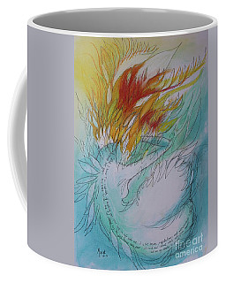 Coffee Mug featuring the drawing Burning Thoughts by Marat Essex