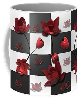 Burnt Crimson Flora Coffee Mug
