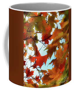 Burnt Orange - Fall Background Coffee Mug