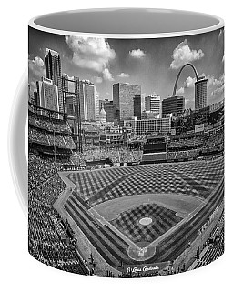 Busch Stadium St. Louis Cardinals Black White Ballpark Village Coffee Mug