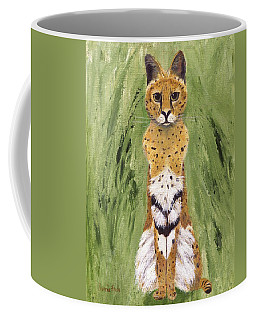 Coffee Mug featuring the painting Bush Cat by Jamie Frier