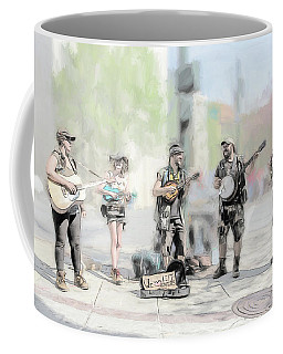 Busker Quintet Coffee Mug by John Haldane