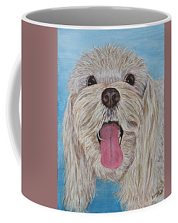 Coffee Mug featuring the painting Buster by Nancy Nale
