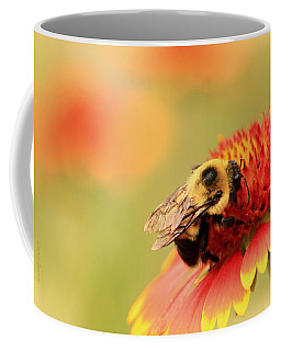 Coffee Mug featuring the photograph Busy Bumblebee by Chris Berry