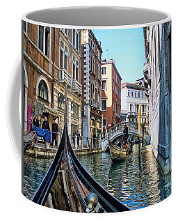 Coffee Mug featuring the photograph Busy Canal by Roberta Byram