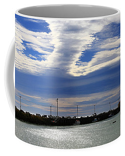 Coffee Mug featuring the photograph Busy Day At The Wharf by Nareeta Martin