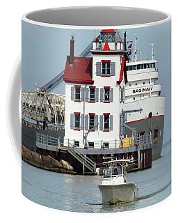 Busy Harbor Of Lorain Coffee Mug