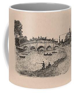 Busy Richmond Bridge And Fishermen Coffee Mug