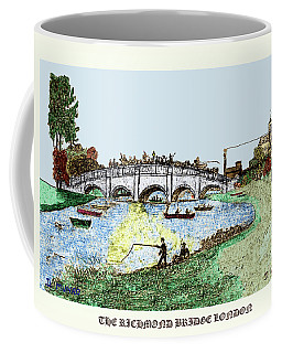 Busy Richmond Bridge Coffee Mug