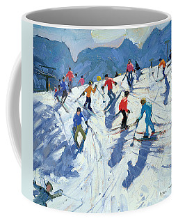 Busy Ski Slope Coffee Mug