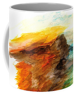 Butte At Sunset Coffee Mug