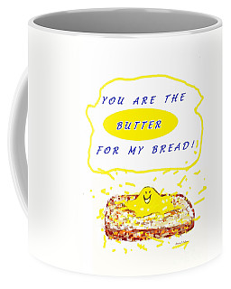 Coffee Mug featuring the drawing Butter For My Bread by Denise Fulmer