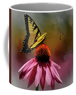 Butterflies And Cone Sflowers Coffee Mug