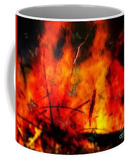 Butterflies And Flame Coffee Mug