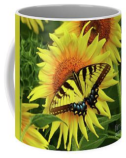 Butterflies And Sunflowers Coffee Mug