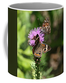 Butterflies And Purple Flower Coffee Mug