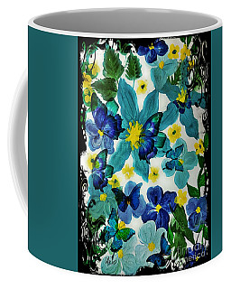 Coffee Mug featuring the mixed media Butterflies Galore by Maria Urso