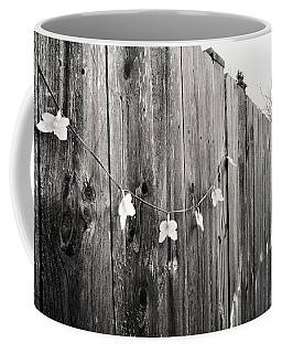 Butterflies On A Rustic Fence Coffee Mug