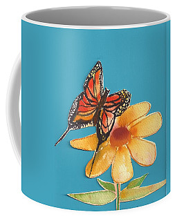 Coffee Mug featuring the painting Butterflower by Denise Fulmer