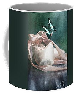 Butterfly And Ballerina Pointe Shoes Coffee Mug