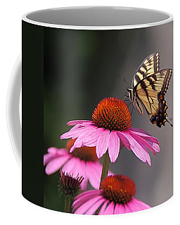 Butterfly And Coneflower Coffee Mug