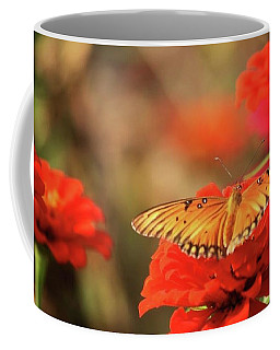Butterfly And Flower I Coffee Mug by Donna G Smith