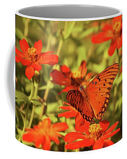 Coffee Mug featuring the photograph Butterfly And Flower II by Donna G Smith