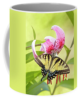 Butterfly And Lily Coffee Mug