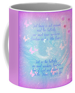 Butterfly And We Coffee Mug by Sherri's Of Palm Springs