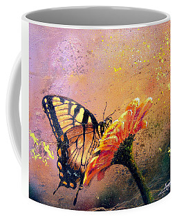 Coffee Mug featuring the painting Butterfly by Andrew King