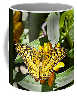 Coffee Mug featuring the photograph Butterfly At Rest by Bill Barber