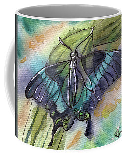 Butterfly Bamboo Black Swallowtail Coffee Mug by D Renee Wilson