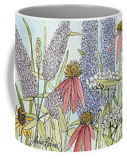 Butterfly Bush In Garden Coffee Mug