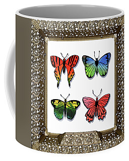 Butterfly Collection I Framed Coffee Mug