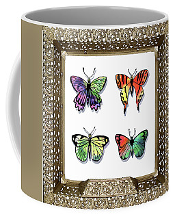 Butterfly Collection II Framed Coffee Mug