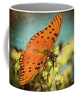 Butterfly Enjoying The Nectar Coffee Mug by Scott and Dixie Wiley