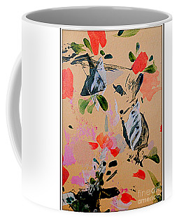 Coffee Mug featuring the painting Butterfly Fun by Nancy Kane Chapman