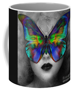Butterfly Girl Coffee Mug by Klara Acel