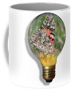 Butterfly In A Bulb II Coffee Mug