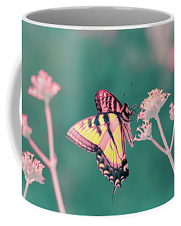 Coffee Mug featuring the photograph Butterfly In Infrared by Brian Hale