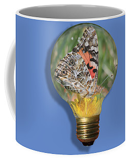 Butterfly In Lightbulb Coffee Mug