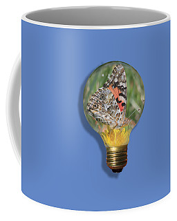 Butterfly In Lightbulb Coffee Mug