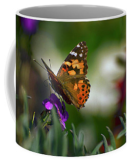 Coffee Mug featuring the photograph Butterfly In Winter by Debby Pueschel
