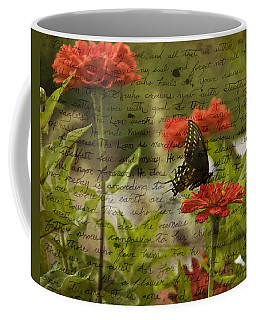 Butterfly Notes Coffee Mug