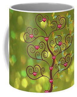 Butterfly Of Heart Tree Coffee Mug