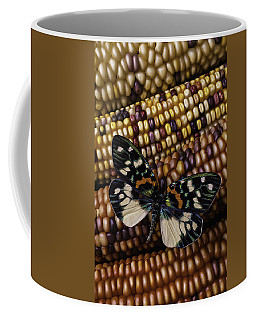 Butterfly On Indian Corn Coffee Mug