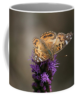 Coffee Mug featuring the photograph Butterfly In Solo by Cathy Harper
