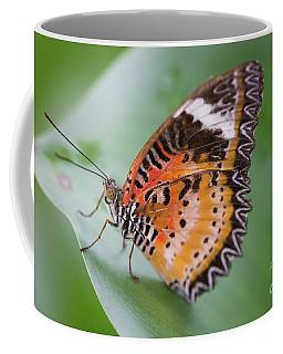 Butterfly On The Edge Of Leaf Coffee Mug