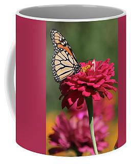Butterfly On Zinnia Coffee Mug