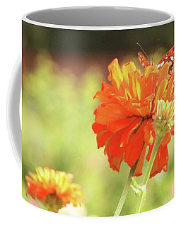 Coffee Mug featuring the photograph Butterfly Peek-a-boo by Donna G Smith